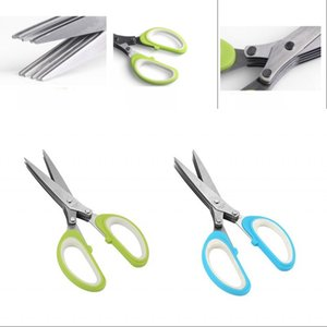 Kitchen Accessories Scissors Multi Function Cooking Tools 5 Layers Clipper Scallion Herb Spices Scissor Household Convenient 5 5lt G2