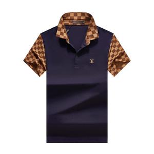 2020 Мужчины Leopard Polo лето Дизайнер Мужской Повседневная мода рубашки поло с короткими рукавами тройники Tops