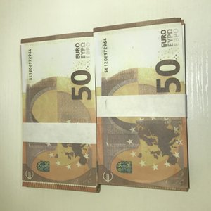 Hot Copy Party Euro Stage Bar MV Banknote Shooting Toy Counterfeit Atmosphere LE50-18 50 Prop Griit Xgfin