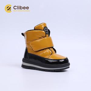 Clibee Kızlar Erkekler Kış Kar Boots Çocuk Sıcak Su geçirmez Kaymaz Anti-Çarpışma Hight-Cut Açık Ayakkabı Çocuk Boots 22-27 C1005