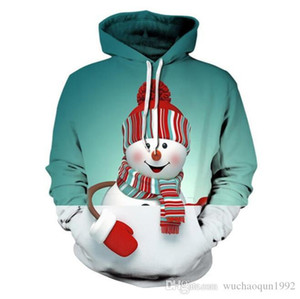 3 colors Clothing Christmas Hoodie Print Sweatshirt Men Women Hooded Pullover Christmas HipHop Hoodies Autumn Top Clothes