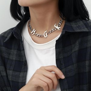 Gold Letter Necklace for Women Pendant Necklace Punk Chain Choker Necklaces Jewelry Women Hip Hop Fashion Jewelry