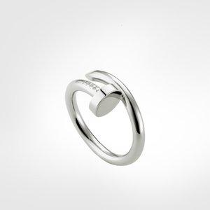 Anillo de uñas amor de amor anillos de tornillo clásico lujo diseñador joyería mujeres anillos de oro acero de titanio chapado en oro NUNCA se desvanece, no alérgico -s