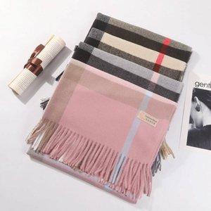 2019 унисекс мода зимний дизайнер 100% кашемировые шарф женские и мужские бренд роскошный большой размер классические шарфы пушмина бесконечности шарфы