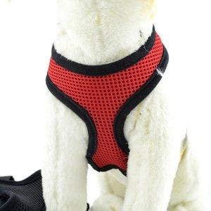 Dropshipping Регулируемая Комфорт Мягкая дышащая собак Pet Vest Rope Нагрудный Поводок Collar