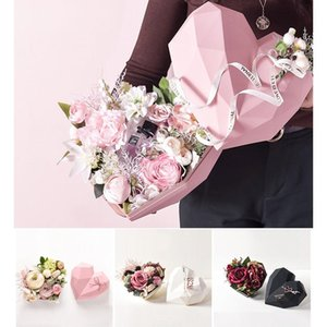 Love Gift Box Valentines Day Gifts Packaging Boxes 18*18*12cm Flower Gift Boxes Gift Wrap 4 Color HWD4252