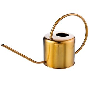 Watering Can Golden Garden Stainless Steel 1300Ml Small Water Bottle Easy To Use Handle Perfect For Watering Plants Flower