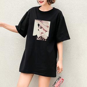 2020 DIY camisetas Meninas moda casual t-shirts com uma senhora padrão moda estilos simples mangas curtas respirável hot vendendo tops