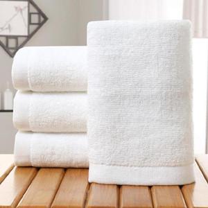 Toalla Blanca Hotel Cotton toallas de baño para adultos bricolaje Home Hotel impresión toallas suaves toallas de mano 35 * 75cm HH9-3553