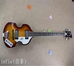 Бесплатная доставка Марка Классический Основывает гитары С 1887 г., 4 струнных 22 лада Electric Bass Guitar Flame Maple Made In USA