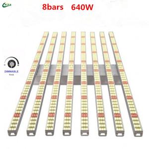 Knob move light 640W octopus 8bars Full spectrum Samsung LM2835 led lamp Board Led Grow Light bar For indoor Plants