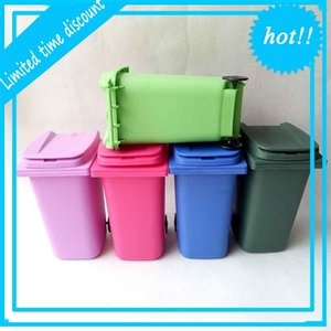 Big Mouth Toys Mini Trash Pencil holder Recycle Can Case Table Pen Plastic Storage Bucket Stationery Sundries Organizer Tools 5 colors Gift