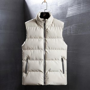Men's Vests Mens Outdoors Vest Men Winter Jackets Man Thick Sleeveless Coats Male Warm Padded Waistcoat Fashion Plus Size Gilet