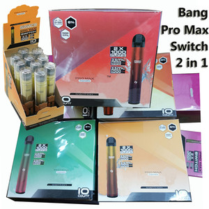 Bang Pro Max 스위치 일회용 vapes 2 in 1 전자 담배 2000 퍼프 듀얼 플라 일회용 전자 Cigs Bang XXL 2IN1 장치 5 조합