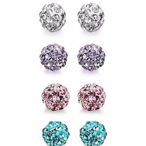 MODRSA 2PCS Acciaio inossidabile Lingua Anello Bilanciere Crystal Ball Ear Stud Lingua Piercing Body gioielli per le donne f sqcixr