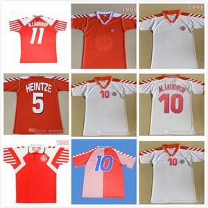 1992 1998 Dinamarca Retro Home 92 98 EURO Dinamarquês Casa Final Clássico Lauder Povlsen Jersey 92 98denmark Retro Men's Soccer Jersey M. Laudrup 10