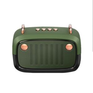 wholesale 50 pcs Music Player Wireless Portable FM Retro Bluetooth Speaker Rechargeable HiFi Stereo Desktop BS32D