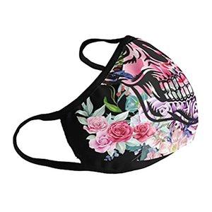 Маски ветрозащитный печати Хлопок Плевать моющийся Mascarillas Faceshield Взрослые пылезащитные маски для лица Masque Защитный Череп qylhvU dh_garden