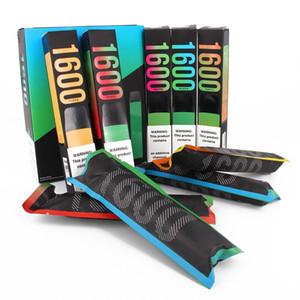 Hot Puff XXL Einweg-Vape-Kit-Pen-Pods-Gerät-Gerät 1000mAh-Patronen 1600 Puffs Vorgefüllte VS bar plus Flow Max Bang 18 Farben