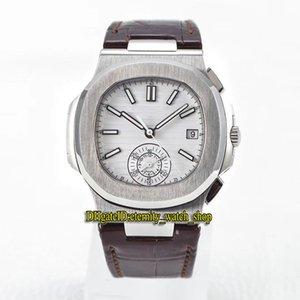 TWF Top versione orologi sportivi 5980 1A-014 quadrante bianco cal.ch 28-520 c cronografo automatico 5980 orologio da mens luminoso custodia in acciaio 316L cassa in acciaio 750