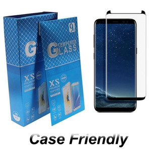 Case Friendly Tempered Glass For Samsung Galaxy S20 S9 Note 20 Ultra 10 S8 Plus 3d Curved Version Screen Protector