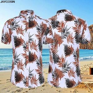 KLV para hombre étnico de manga corta de algodón ocasional de lino impresión de la blusa de la camisa hawaiana pareja suelta Fit Hawaii clásicos de África Imprimir a9KB #