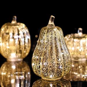 Lellen 1PC Тыква Беспламенно свечи светодиодные свеча ароматизированные бугины Velas Electronic for для Halloween Home Decor Party 201009