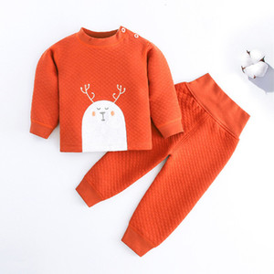 2021 New Girls Clothing Autumn Fashion Style Cartoon Embroidery Tops+pants 2pcs set Baby Boys Clothes Sets 54tl