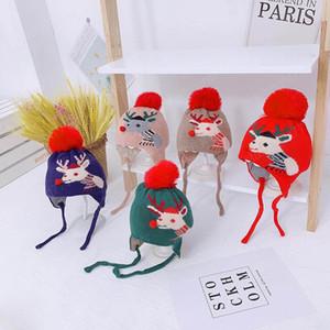 new Christmas baby hats cartoon kids hats autumn winter crochet knitted baby caps boys hat girls hats earmuffs hat
