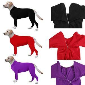 Post-opératoire Protection Récupération à manches longues Jumpsuit BodySuit pour chiens Soins Combinaison Combinaison Chemise Pajamas