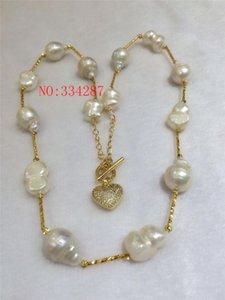 NOUVEAU 12-16mm grand collier de perles baroques de forme irrégulière 20inches