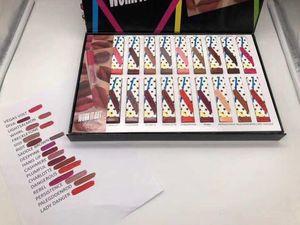 Cheap processing Stock Sale!!Makeup set Work it Out matte lipstick collection set 18 color English names lipsticks 18pcs set