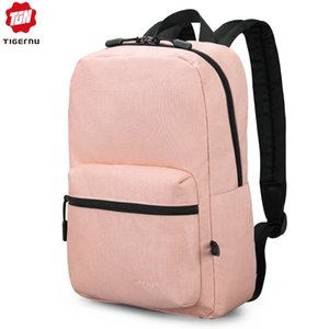 Tigernu New Arrival Women Pink High Quality School Backpacks Bags Soft Light For Girls Travel Mochilas Female Casual Lovely Bags 201013