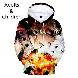 Erkek Hoodies Tişörtü Benim Kahraman Academia Çocuk Moda Rahat Hoodie Bayan Ürünleri Harajuku Çocuklar 3d Kapüşonlu Sonbahar Kazak Üst