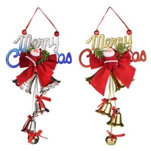 2020 Рождественские украшения Санта-Клаус Колокол 5 стилей мультфильма куклы аксессуары украшения елки кулон оптом Китай