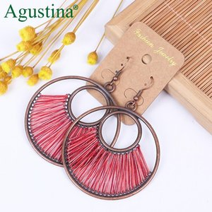 Agustina 2021 Vintage Earrings Jewelry Fashion Pendientes Earrings Women Bohemian Metal Drop Wholesale luxury Earring
