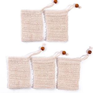 Jabón Exfoliante natural hecho a mano bolsas de sisal jabón Jabón bolsas de malla de ahorro del sostenedor de los jabones de baño titular de baño Espuma Neto