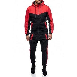 Chándal de los hombres Set de chándales Conjuntos con capucha + Pantalones Sets Sets Traje Casual Slim Fit Sportswear Sweat Shirts Ropa