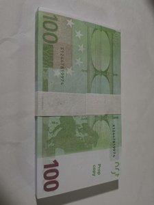 2Factory Doğrudan Çekim Sahne 100 Sahte Banknot Toptan Oyun Tokens 100 Euro Püskürtme Tabancası Dolar Pound Not