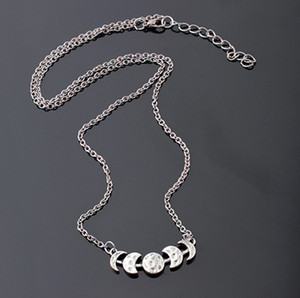 Crescent Moon Collier Charm Bijoux longue Maxi Collier de chaîne