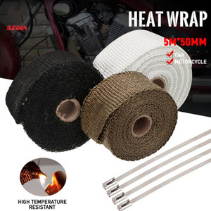 Motorcycle 5M*50MM Hermal Exhaust Tape Exhaust Pipe Wrap Header Heat Resistant Cloth For Strap Hot Car1