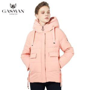 Gazman Yeni Kış Kadın Ceketler Kısa Kapüşonlu Sıcak Parkas Kızlar için Kadın Sıcak Ceket Kadın Bio Fluff Parka Aşağı Kısa 1810 LJ201021