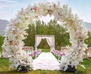 Artificial Simulation Cherry Blossom Flower Bouquet Wedding Arch Decoration Garland Home Decor Supplies