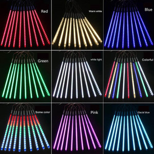 30см 8lamps / комплект рождественских украшений огней Meteor Shower лампа Набор светодиодные Бар Декоративные Открытый водонепроницаемый труба цветного свет KKA1799