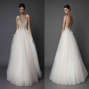 2020 Wedding Dresses Spaghetti Backless Lace Applique Sequins Floor Length Custom Made Bridal Gowns Vestidos Vestido De Noiva