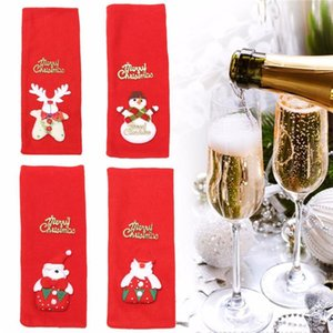 Festive Red Christmas Decorations Wine Bottle Cover Wine Gift Bag Christmas And Other Festival Bottle Covers Candy Supplies 2017 jllksv