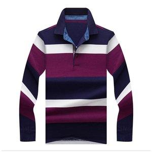 Jungle Zone 2021 Topstees Camisas para hombres Estilo de moda Invierno Rayas Color Mangas largas Poloshirt Hombres Camisa Sólida