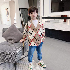 2021 free shipping Boys Solid Cardigan Sweaters 2-13 Years Old Spring Autumn Baby Kids Clothes O-Neck Single Breasted Children's Clothing