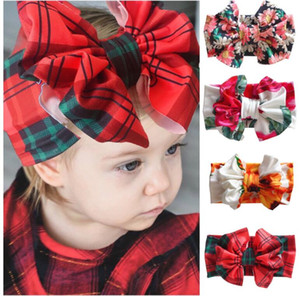 INS Christmas oversized bow tie hair band suit Headbands Elastic Hair Bands Kids Headwear Hair Accessories
