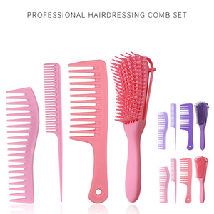 4Pcs Paddle dressing Hair Brush set, Detangling Brush and Hair Comb Set for Men and Women, Great On Wet or Dry Hair